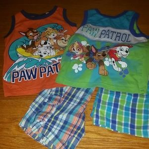 Two paw patrol outfits